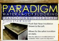 Paradigm Water Proof Flooring Transition Builder Board Flush Stair Nose